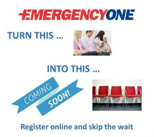 Emergency One brings online registration to our patients